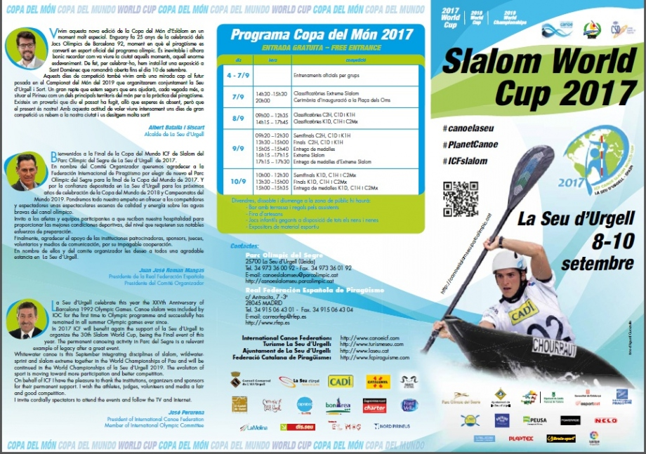 triptic information 2017 icf cs world cup final la seu 1